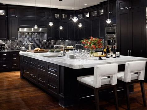 pin by second design on black kitchens interior design