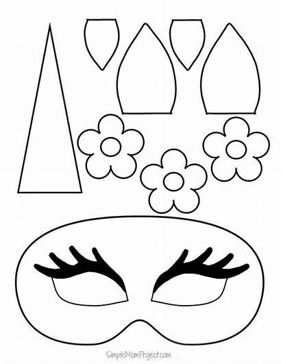 Diy Unicorn Printable Face Masks Templates Halloween