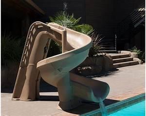 Toboggan Pour Piscine Hors Sol : toboggan piscine h lix couleur sable promo ~ Carolinahurricanesstore.com Idées de Décoration