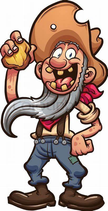 Miner Gold Prospector Cartoon Clip Illustration Happy