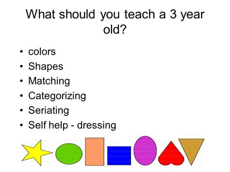 basic learning styles ppt 669 | What should you teach a 3 year old
