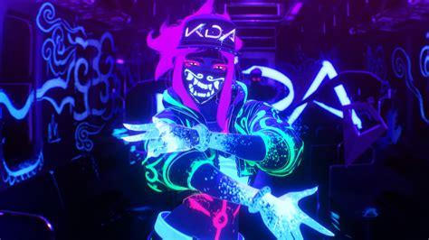 K/da Pop/stars Neon Akali League Of Legends Lol 4k #26053