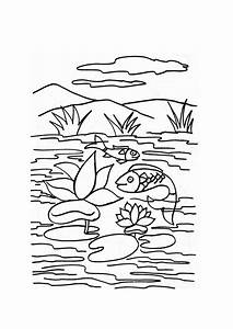 Lake #13 (Nature) – Printable coloring pages