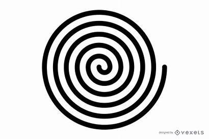 Espiral Spiral Negro Preto Vetor Vexels Imagen