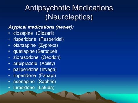 overview  psychotropic medications