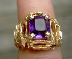 Vintage 14k Gold Amethyst Ring | eBay