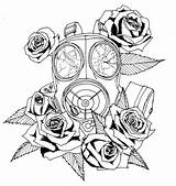Mask Gas Dead Tattoo Roses Coloring Pages Drawing Toxic Gasmask Tattoos Designs Deviantart Flowers Want Masks Wit Signify Quotes Flower sketch template