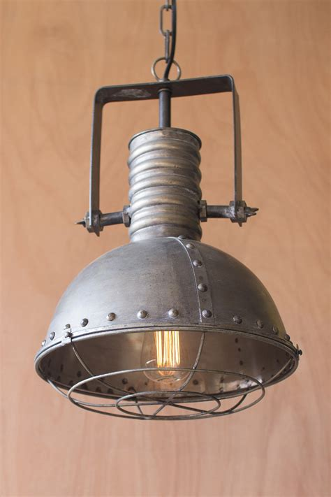metal warehouse pendant light  cage