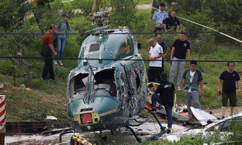 pilot steered helicopter  crowds  beijing