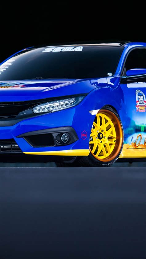 wallpaper hondas sonic civic sedan blue sonic cars