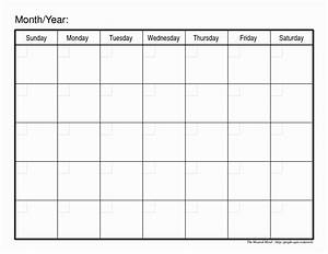 Collect Large Blank Monthly Calendar To Fill In  U22c6 The Best