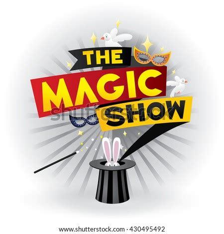 magic poster design template magicical logo stock vector
