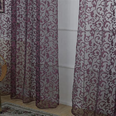 sheer voile curtains uk uk floral pattern voile room window curtain sheer panel