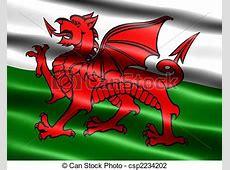 Wales vlag Zijdeachtig, uiterlijk, vlag, illustratie