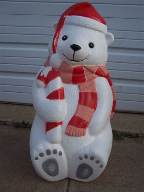 christmas blow mold yard decor  teddy polar bear