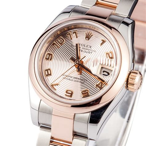 Womens Rolex DateJust 179161 18k Rose Gold - Free Shipping!