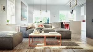 la deco interieur de style scandinave s39impose avec elegance With tapis de gym avec le corner canapé scandinave