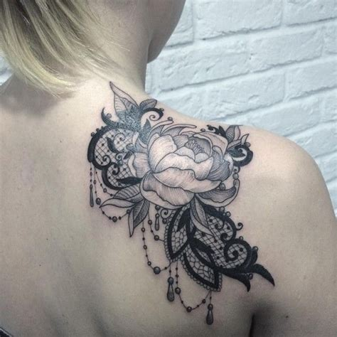 45 Fabulous Lace Tattoo Designs Taken From Gold Silk