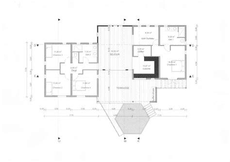 plan maison 3 chambre plan de maison 3 chambres salon
