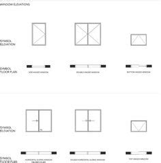 awning window architectural symbol home plans design