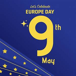 Europe Day Celebration Background - Download Free Vector ...