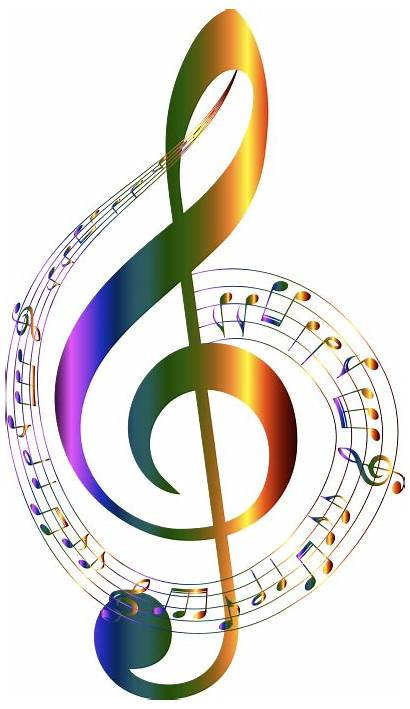Notes Musical Typography Chromatic Transparent Clipart
