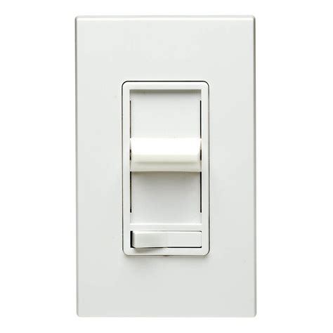 dimmer light switch leviton decora sureslide dimmer w preset switch white