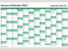 Kalender 2017 Hessen