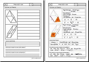Volumen Rohr Berechnen : mathematik geometrie arbeitsblatt prisma zylinder ~ Themetempest.com Abrechnung