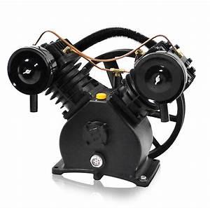 5 Hp Air Compressor Pump  2 Cylinder  Single Stage