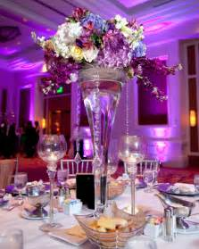 wedding reception centerpieces photos of purple wedding centerpieces wedwebtalks
