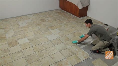 how to put tile floor in kitchen installing ceramic and porcelain floor tile overview 9817