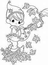 Coloring Fall Pages Elf Printable Precious sketch template