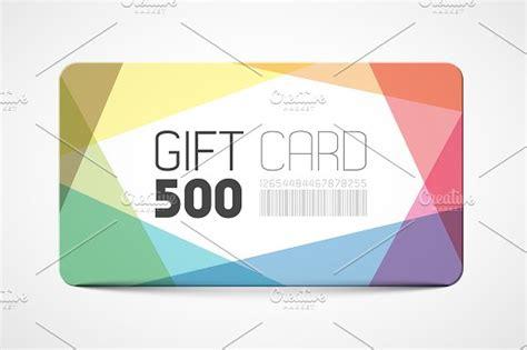 Gift Card Template Gift Card Template Card Templates Creative Market