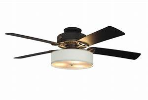 Magnetic Attaching Linen Drum Shade For Ceiling Fans