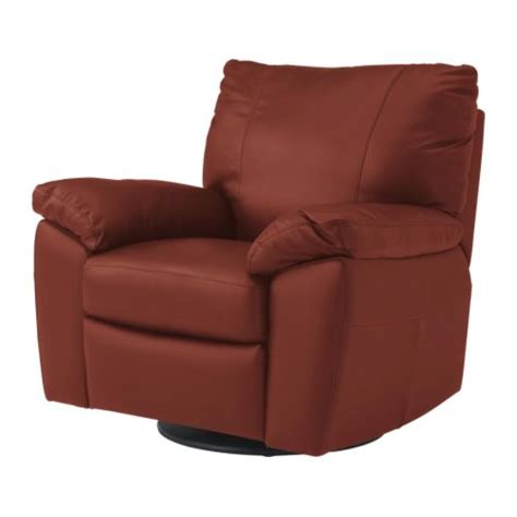 ikea vreta leather swivel recliners