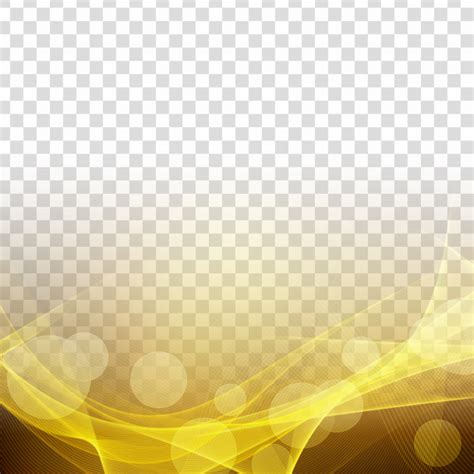 abstract modern glowing wave transparent background vector