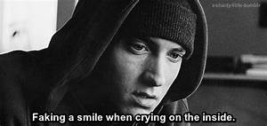 Faking a smile when crying on te inside | We Heart It ...