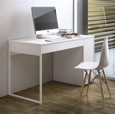 bureau blanc laqu temahome prado bureau blanc mat avec 1 tiroir et 1 caisson