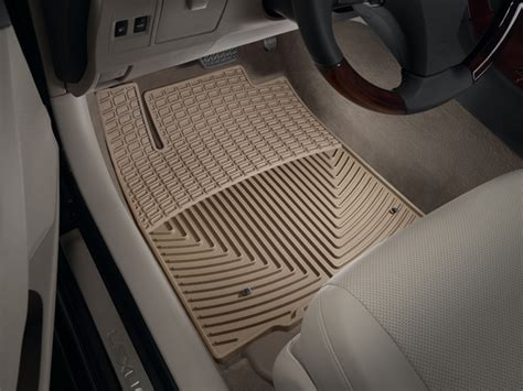 weathertech floor mats lexus es 350 weathertech 174 all weather floor mats lexus es 350 2007 2012 tan