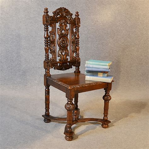 antique chair oak high back drawing room