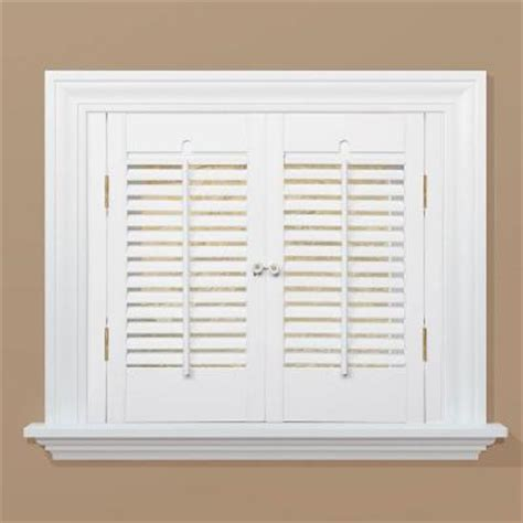 wooden shutters interior home depot homebasics traditional wood interior shutter