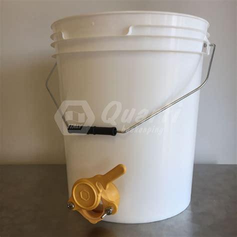 rubinetto in plastica secchio in plastica capienza kg 25 con rubinetto