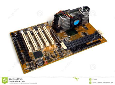computer processor motherboard  card slots royalty