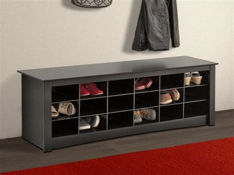 shoe storage bench for arranging the shoes inside