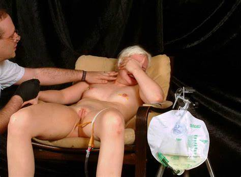 She Take Treat The Pain enema and needleplay