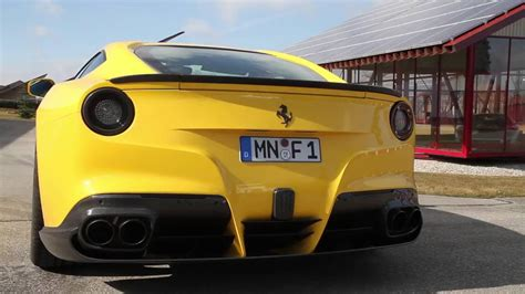 Sport exhaust system with dual rear exit by fabspeed®. Ferrari F12 Novitec Exhaust   Scuderia Car Parts - YouTube