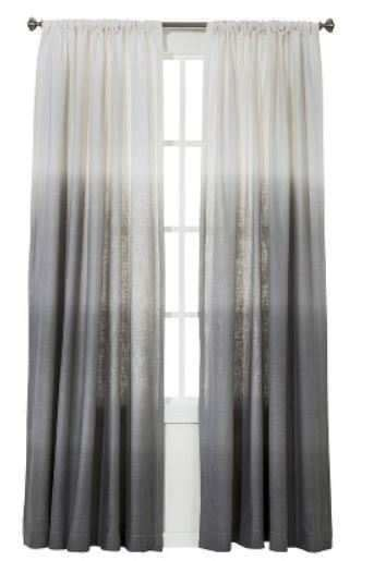 Grey Striped Curtains Target by 1 Threshold For Target Gray Ombre Stripe Window Curtain
