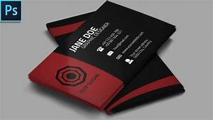 Cool creative business card psd photoshop tutorial youtube for Photography business card template photoshop