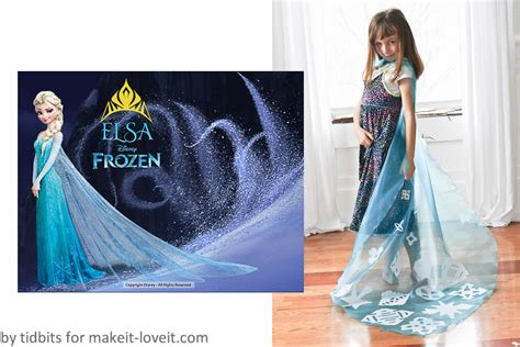 sew elsa cape  frozena    project